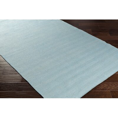 Jennievieb Hand-Woven Blue Indoor/Outdoor Area Rug Rug Size: Rectangle 8 x 10