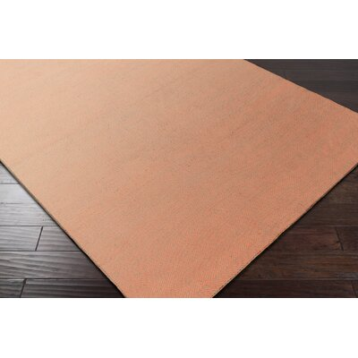 Jennievieb Hand-Woven Orange Indoor/Outdoor Area Rug Rug Size: Rectangle 8 x 10