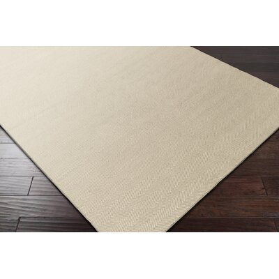 Jennievieb Hand-Woven Beige Indoor/Outdoor Area Rug Rug Size: Rectangle 5 x 76