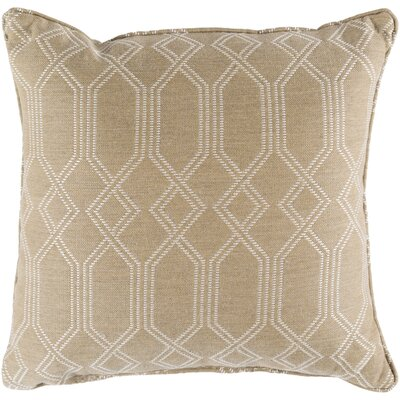 Hawthorn Indoor/Outdoor Throw Pillow Size: 20 H x 20 W x 4 D, Color: Camel
