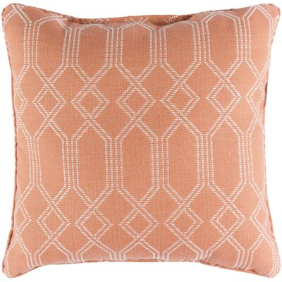 Moselle Indoor/Outdoor Throw Pillow Size: 20 H x 20 W x 4 D, Color: Coral