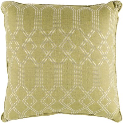 Hawthorn Indoor/Outdoor Throw Pillow Size: 20 H x 20 W x 4 D, Color: Lime