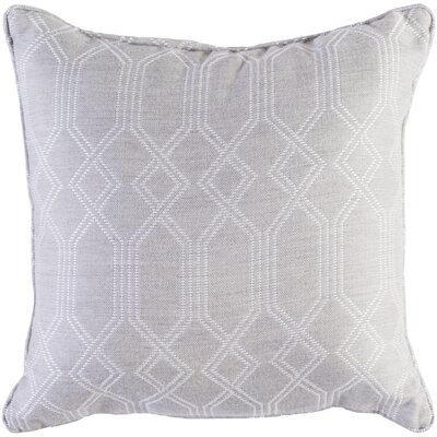Hawthorn Indoor/Outdoor Throw Pillow Size: 20 H x 20 W x 4 D, Color: Gray