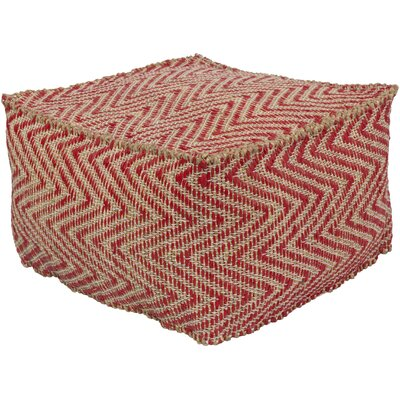 Moorcroft Pouf Ottoman Upholstery: Bright Red
