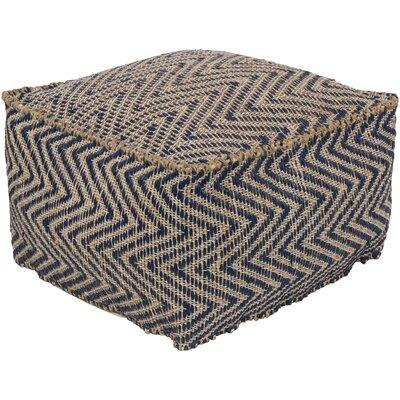 Moorcroft Pouf Ottoman Upholstery: Navy