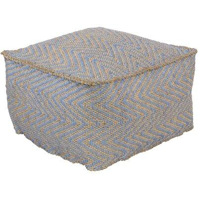 Moorcroft Pouf Ottoman Upholstery: Sky Blue