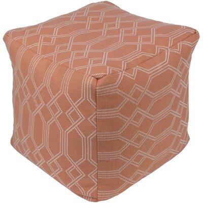 Hawthorn Pouf Ottoman Upholstery: Orange