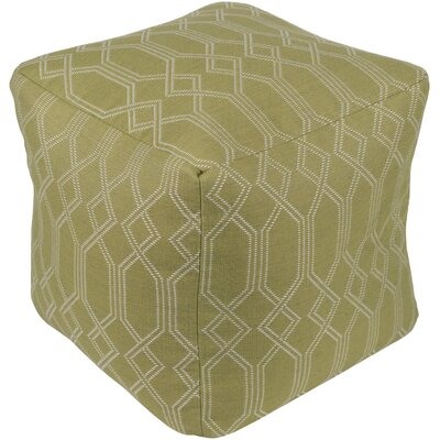 Hawthorn Pouf Ottoman Upholstery: Lime