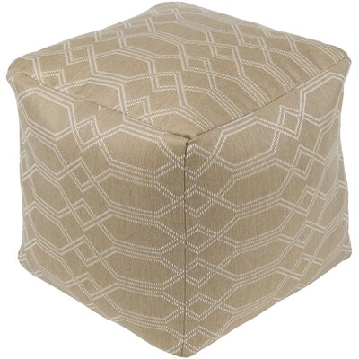 Moselle Pouf Ottoman Upholstery: Beige