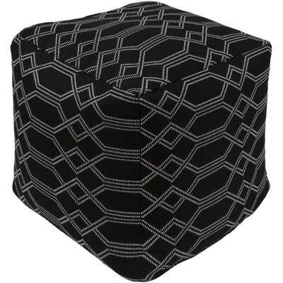 Hawthorn Pouf Upholstery: Black