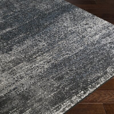 Hatboro Tibetan Gray/Black Area Rug Rug Size: Rectangle 710 x 102