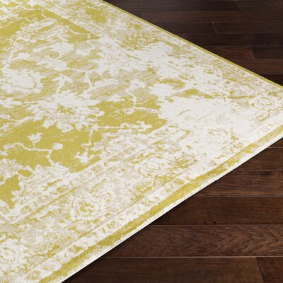 Montrose Yellow/White Area Rug Rug Size: Rectangle 2 x 3