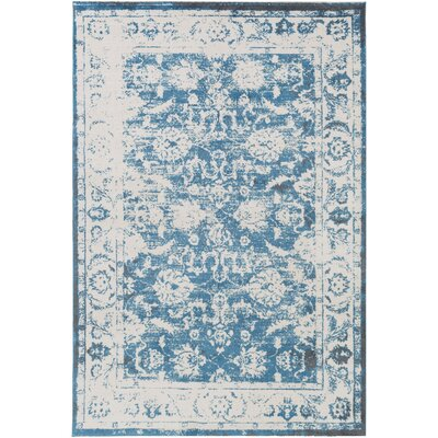 Montrose Blue/Beige Area Rug Rug Size: Rectangle 53 x 76