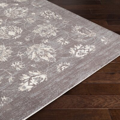 Montrose Gray/Cream Area Rug Rug Size: Rectangle 8 x 10
