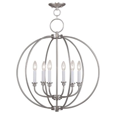 Naomie 6-Light Globe Pendant Finish: Brushed Nickel