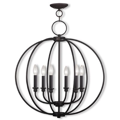 Naomie 6-Light Globe Pendant Finish: Bronze