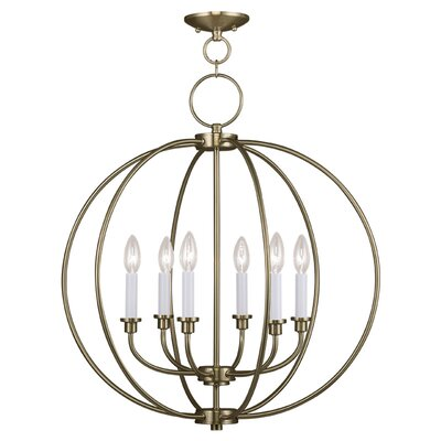Naomie 6-Light Globe Pendant Finish: Antique Brass