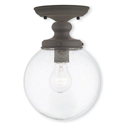 Avalon 1-Light Semi Flush Mount Finish: Bronze
