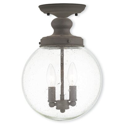 Avalon 2-Light Semi Flush Mount Finish: Bronze