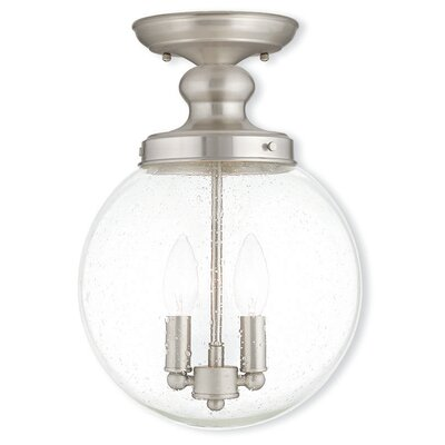 Avalon 2-Light Semi Flush Mount Finish: Brushed Nickel
