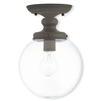 Delmar 1-Light Semi Flush Mount Finish: Bronze