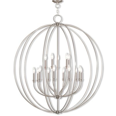 Naomie 15-Light Globe Pendant Finish: Brushed Nickel