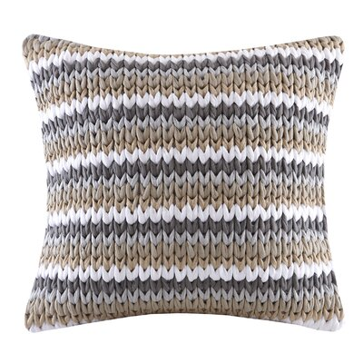 Moreland Handloom Square Throw Pillow Color: Tan
