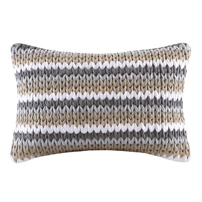 Moreland Handloom Cotton Lumbar Pillow Color: Tan