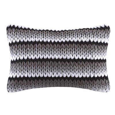 Moreland Handloom Cotton Lumbar Pillow Color: Black