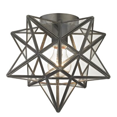 Nikki 1-Light Flush Mount Finish: Bronze / Clear