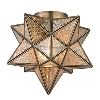 Nikki 1-Light Flush Mount Finish: Antique Mercury / Gold