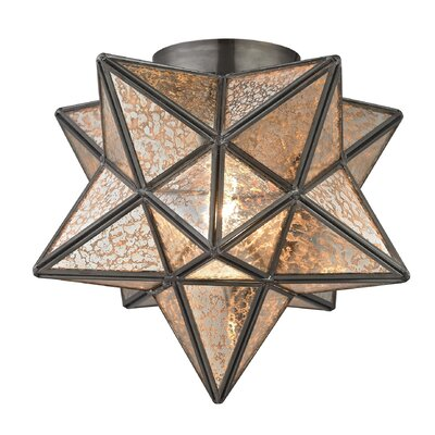 Nikki 1-Light Flush Mount Finish: Antique Mercury / Bronze