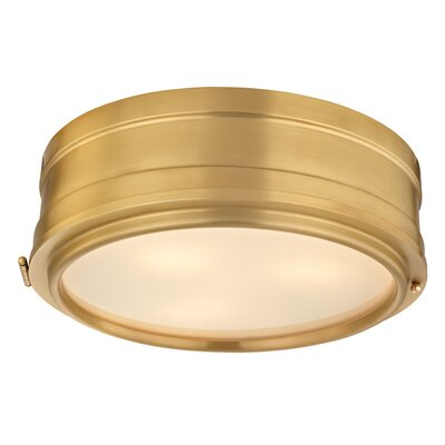 Kamini 3-Light Flush Mount Finish: Aged Brass