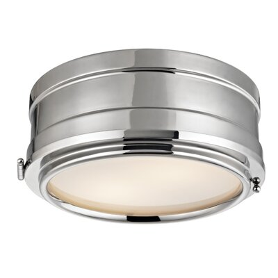 Kamini 2-Light Flush Mount Finish: Polished Nickel