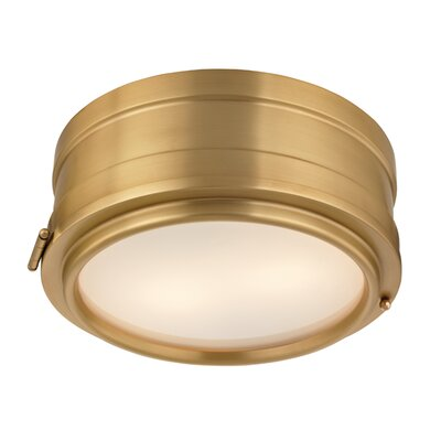 Kamini 2-Light Flush Mount Finish: Aged Brass