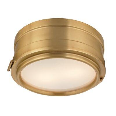 Orrin 2-Light Flush Mount Finish: Aged Brass