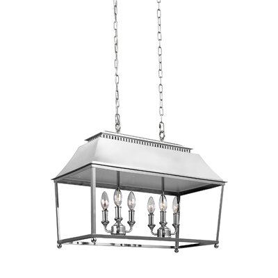 Darwin 6-Light Billiard Light Finish: Polished Nickel