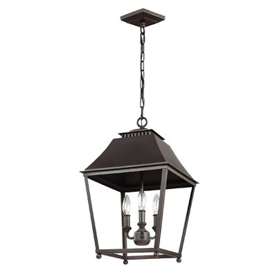 Darwin 3-Light Metal Foyer Pendant Finish: Dark Antique Copper