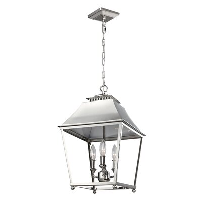 Darwin 3-Light Metal Foyer Pendant Finish: Polished Nickel