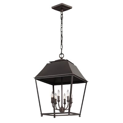 Darwin 6-Light Foyer Pendant Finish: Antique Copper