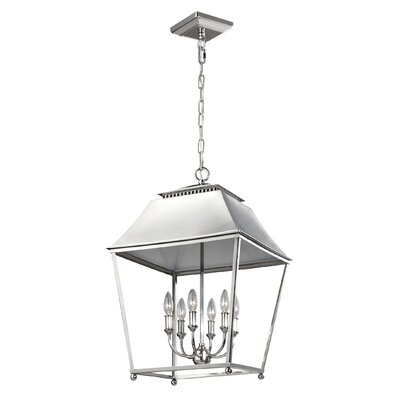 Darwin 6-Light Foyer Pendant Finish: Polished Nickel