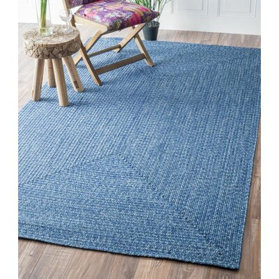 Norgate Hand-Braided Blue Indoor/Outdoor Area Rug Rug Size: 76 x 96