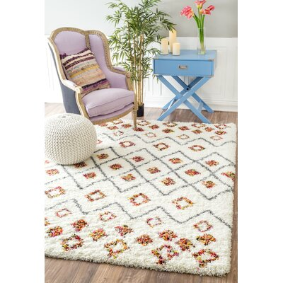 Oliver White Area Rug Rug Size: Rectangle 4 x 6