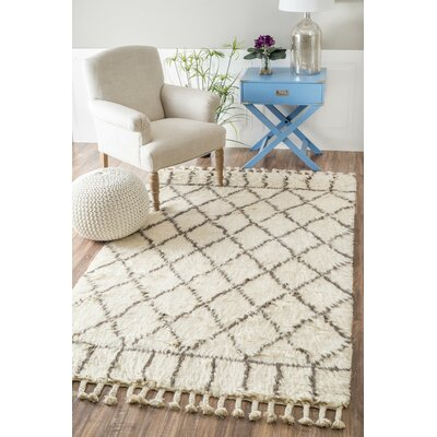 Omega Hand-Woven Natural Area Rug Rug Size: Rectangle 8 x 10