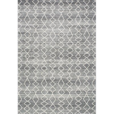 Carrie Gray Area Rug Rug Size: Rectangle 8 x 10