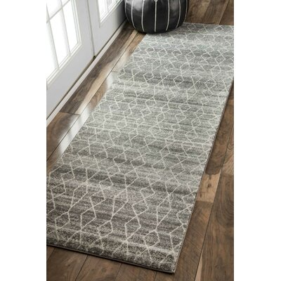 Carrie Gray Area Rug Size: 53 x 77