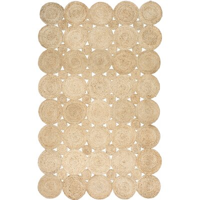 Caroline Hand-Woven Natural Area Rug Rug Size: Rectangle 8 x 10
