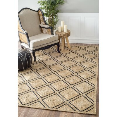 Carol Hand-Braided Tan Area Rug Rug Size: Rectangle 8 x 10