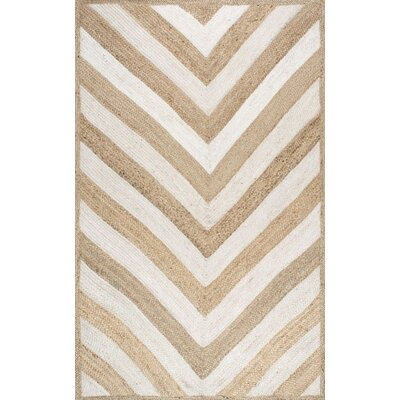 Cassandra Hand-Woven Natural Area Rug Rug Size: 4 x 6