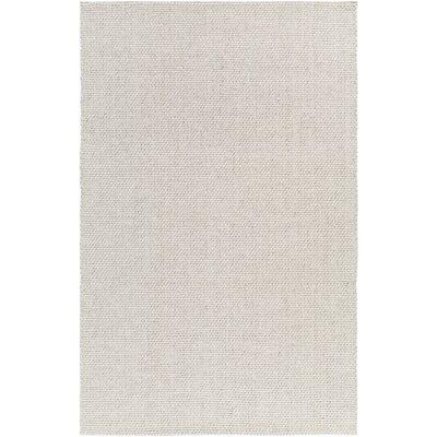 Haysville Hand-Woven Light Gray Area Rug Rug size: 33 x 53